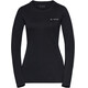 VAUDE Sveit - T-shirt manches longues Femme - noir